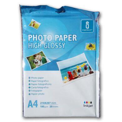 Fotopapír A4 Aigostar pro ink. tiskárny - bal. 20 listů - lesklý - 180 gr.(069-03000)