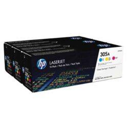 HP CF370A (305A) - originální - Sada barev (C-M-Y)