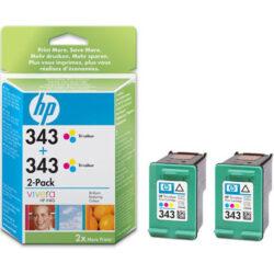 HP CB332E double No.343 (2x C8766) ink. - originální