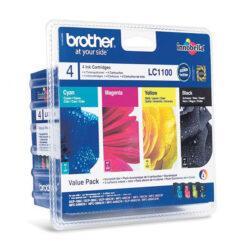 Brother LC1100BCMY - originální - Černá + sada barev